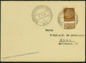German Navy Spanish Civil War Panzerschiff Deutschland Feldpost Cover 54385
