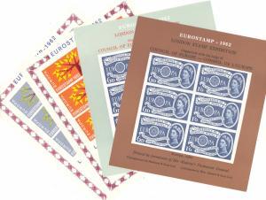 Europa Exhibition sheets  Mint  VF NH   - Lakeshore Philatelics