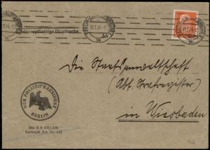 Germany Berlin Polizei POL Lochung Police Perfin Official Cover 60008