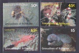 1987 Grenadines & St Vincent 565-568b Sea fauna 20,00 €