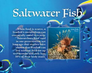 YEAR 2020-GRENADA - SALWATER FISH  1V complet set    MNH ** T