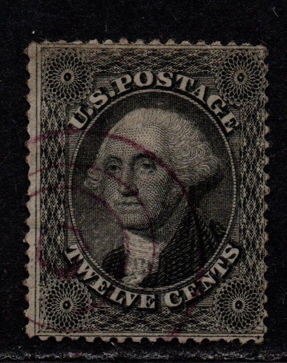 $US Sc#36 used, fine, scarce violet cancel! no faults, Cv. $300++