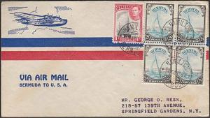 BERMUDA 1938 first flight cover to USA.....................................55618