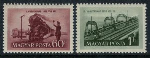 Hungary #1012-3*  CV $2.50  Trains