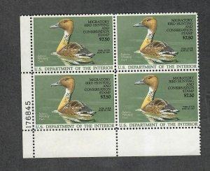 US Sc#RW53 M/NH/VF, Duck Stamp Plate Block, Cv. $60
