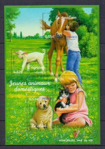 2006 FRANCE - SG: MS4176 - YOUNG DOMESTIC ANIMALS - UNMMOUNTED MNT