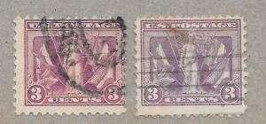 537a Used 3c. Victory, Deep Reddish Violet, scv: $1,750, Free, Insured Shipping