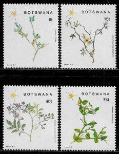 Botswana #448-51 MNH Set - Flowering Plants