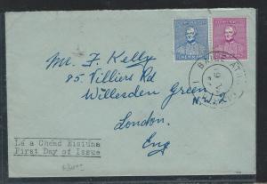 IRELAND (P0110B) 1954 NEWMAN FDC TO LONDON