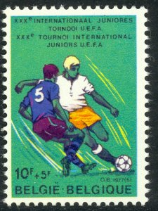BELGIUM 1977 Junior Soccer Semi Postal Issue Sc B958 MNH