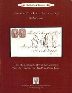 The Frederick R. Mayer Collection: The United States 1856...