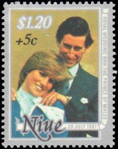 Niue #B52-B54, Complete Set(3), 1981, Royality, Never Hinged
