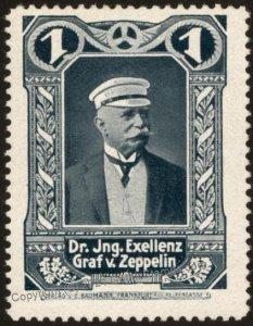 Germany Flight MNH Graf Zeppelin Donation Vignette Cinderella Stamp G102786