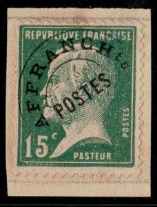 FRANCE Préo 65 15c Pasteur Surch. COLONIAS Spécimen UPU (Col. Portugaise de Goa)