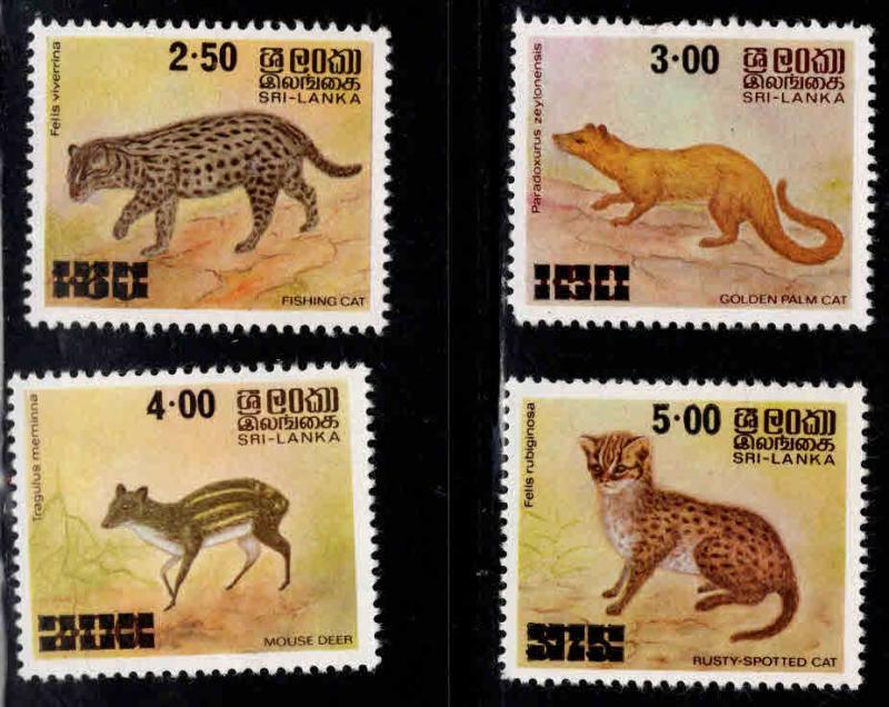 Sri Lanka Scott 594-597 MNH** Animal set 1981