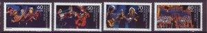 J24993 JLstamps 1988 germany berlin set mnh #9nb257-60 music