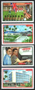 Fiji. 2001. 988-91. 125 years to the national bank. MNH.