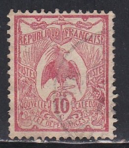 New Caledonia # 93, Kagu Bird, Used, 1/3 Cat.