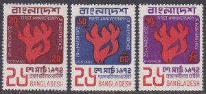Bangladesh Sc #33-35 MNH