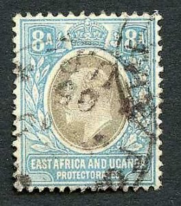 KUT SG8 8a Grey and pale blue wmk Crown CA Cat 50 pounds
