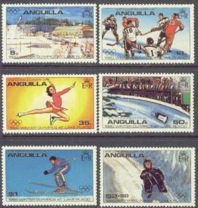 ANGUILLA 375-80 MNH 1980 Winter Olympic Games-Lake Placid,NY