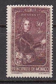 Monaco SC# B65  1942 Jacques S/P MNH