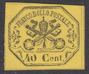 ITALY PAPAL STATES  An old forgery of a classic stamp.......................C200