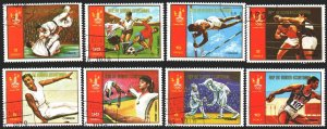 Equatorial Guinea. 1978. 1288-95. Moscow, summer olympic games. USED.