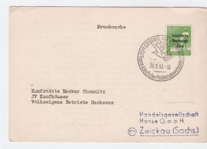 Soviet Occupation Germany 1948 Gossnitz stamps card R20814