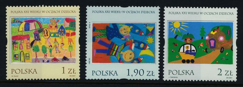 Poland 2606-8 MNH Art, Children's Stamp Design Contest Winners