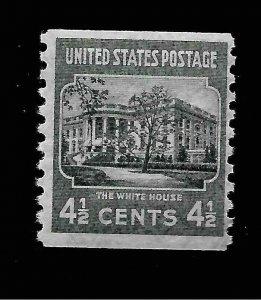 [SOLD]  US 1938 Sc# 844 4 1/2 c  White House Coil  Mint NH - Crisp Color