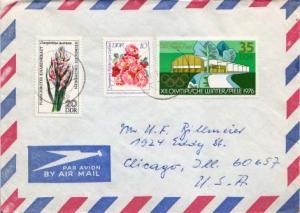 Germany D.D.R., Airmail, Flowers, Olympics
