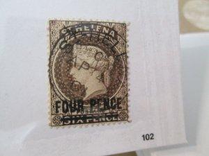 Saint Helena #38a used  2019 SCV = $21.00