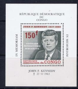 Congo DR 520 Never Hinged John F Kennedy S/S;