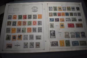 COSTA RICA  COOK ISLANDS  OLD  INTERESTING  COLLECTION ON ALBUM PAGES  Z502