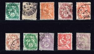 FRANCE STAMP USED STAMP COLLECTION LOT  #T2