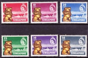 SINGAPORE 1959 New Constitution Set of 6 SG53-58 MH
