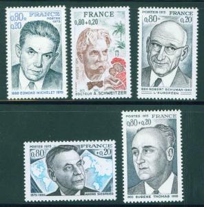 FRANCE Scott B483-87 MNH** 1975 Semi Postal set