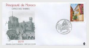 H01 Monaco 2019 Sepac 2019 - Old Residential Houses FDC