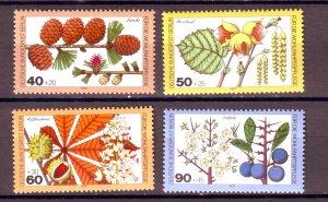 J24963 JLstamps 1979 germany berlin set mnh #9nb159-62 plants