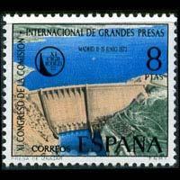 SPAIN 1973 - Scott# 1755 Iznajar Dam Set of 1 NH