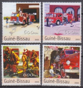 2003 Guinea-Bissau 2164-67 Fire station 8,00 €​​​​​​​
