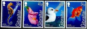 GIBRALTAR Sc#871-874 2001 Europa Complete Set OG Mint Hinged
