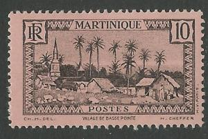 Martinique # 138 Village Scene  10c  (1) VF Unused