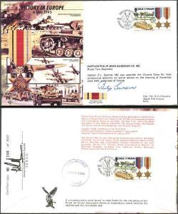 JS45/12Bc Victory in Europe Signed by Captain Philip John Gardner