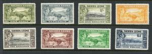 SIERRA LEONE GEORGE VI  SCOTT#179/85, SG#193/200   MINT NH--SCOTT VALUE $150