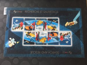 Canada Mint NH #2111 Search and rescue, full pane of 8