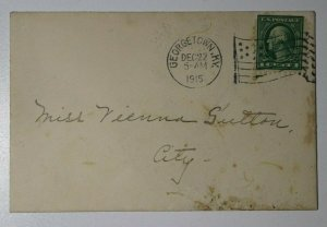 US Sc#424 Used On Cover George town KY 1915 Flag Cancel
