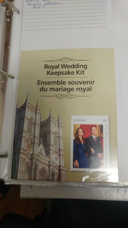 royal wedding keepsake set, sealed