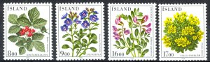 Iceland Sc# 602-605 MNH 1985 Flowers
